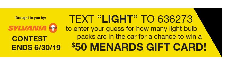 Menards Register to Win